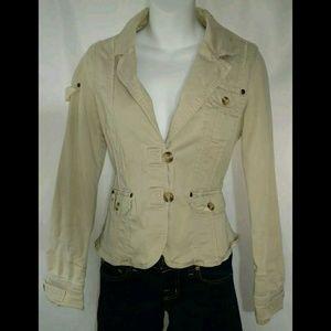 Maurices Khaki Jacket Safari Button Down Sz S